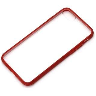 iPhone 7用 ハイブリッドケース クリア&レッド PG-16MPT03RD