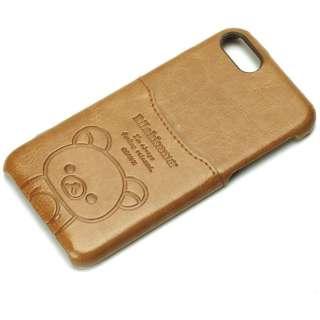 iPhone 7用 リラックマポケット付きPUケース リラックマ/ブラウン YY01608