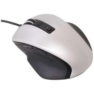 有線BlueLEDマウス[USB 1.5m・Win/Mac/Android] Zシリーズ (5ボタン・シルバー) MUS-UKF120SL