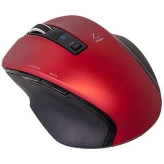 MUS-BKF121R マウス Digio2 Zシリーズ レッド [BlueLED /5ボタン /Bluetooth /無線(ワイヤレス)]