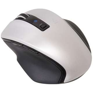 MUS-BKF121SL マウス Digio2 Zシリーズ シルバー [BlueLED /5ボタン /Bluetooth /無線(ワイヤレス)]