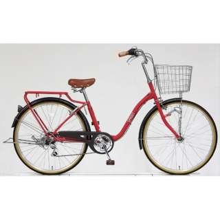 26型 自転車 スプラウト266(マットブリックレッド/6段変速) FD66LG 【組立商品につき返品不可】