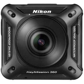 KM360BK 360°カメラ KeyMission 360 ブラック [4K対応 /防水+耐衝撃]