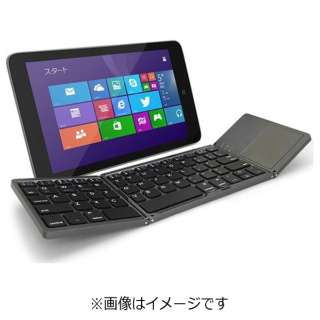 【スマホ/タブレット対応】ワイヤレスキーボード [Bluetooth 3.0・Android/iOS/Win] Tri-folding Bluetooth Keyboard with Track Pad ブラック GK940-BK