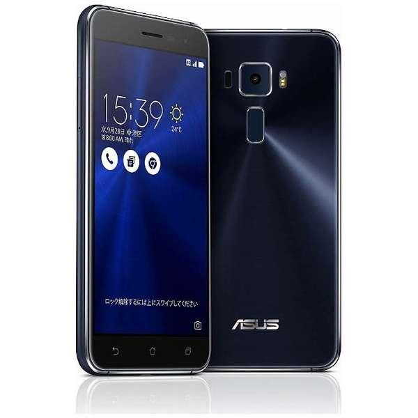ZenFone3 Series サファイアブラック 「ZE520KL-BK32S3」 Snapdragon 625 5.2型・メモリ/ストレージ: 3GB/32GB microSIM×1、nano×1 ドコモ/au/ソフトバンク/YmobileSIM対応 SIMフリースマートフォン