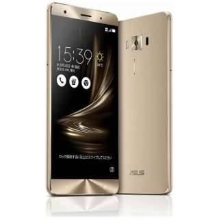 ZenFone3 Deluxe Series ゴールド「ZS570KL-GD256S6」 Snapdragon 821 5.7型・メモリ/ストレージ:6GB/256GB microSIM×1、nano×1 ドコモ/Ymobile SIM対応 DSDS対応 SIMフリースマートフォン
