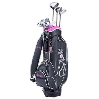 レディース ゴルフクラブ Person's 8本セットブラック《専用グラファイトシャフト+ヘッドカバー・キャディバッグ》PSL-2012 WHT