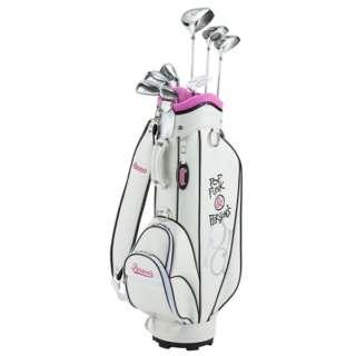 レディース ゴルフクラブ Person's 8本セットホワイト《専用グラファイトシャフト+ヘッドカバー・キャディバッグ》PSL-2012