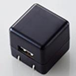 オーディオ用AC充電器 CUBE/1A出力/USB1ポート(ブラック) AVA-ACUAN007BK