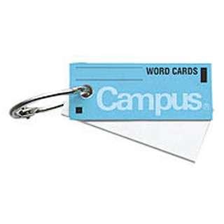 [ノート] 単語カード小 カードリングとじ 95枚 青 タン-100B