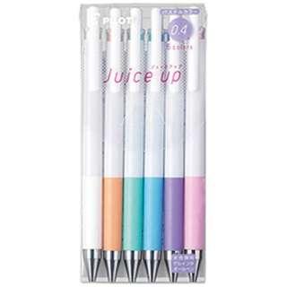 [ゲルインキボールペン] ジュース アップ 04 (ボール径:0.4mm) パステルカラー 6色セット LJP120S4-6CP