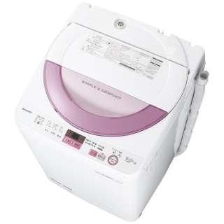ES-GE6A-P 全自動洗濯機 ピンク系 [洗濯6.0kg /乾燥機能無 /上開き]