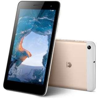 【LTE対応】MediaPad T1 7.0 ゴールド [T170LTE2G16G] 7型・Spreadtrum・ストレージ 16GB・メモリ 2GB microSIM x1 2016年10月モデル Android 6.0 SIMフリータブレット BGO-DL09 ゴールド [7型 /ストレージ:16GB /SIMフリーモデル]