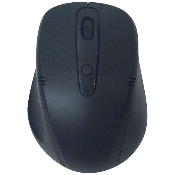 ワイヤレス光学式マウス[2.4GHz USB・Mac/Win] (4ボタン・ブラック×ブラック) 静音タイプ BCM318GBB 【ビックカメラグループオリジナル】
