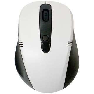 ワイヤレス光学式マウス[2.4GHz USB・Mac/Win] (4ボタン・ブラック×ホワイト) 静音タイプ BCM318GBW