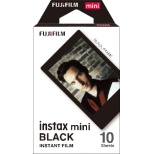 チェキ インスタントフィルム カラー instax mini BLACK(ブラック) [10枚 /1パック]