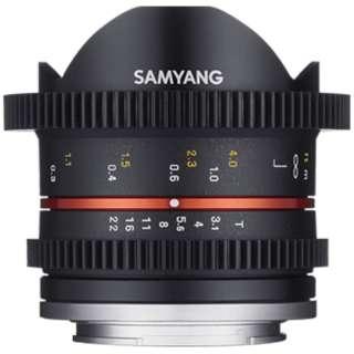 カメラレンズ 8mm T3.1 UMC Fish-eyeII ブラック [FUJIFILM X /単焦点レンズ]