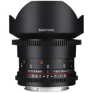 カメラレンズ 14mm T3.1 VDSLR ED AS IF UMCII ブラック [FUJIFILM X /単焦点レンズ]