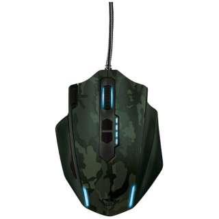 有線光学式ゲーミングマウス[USB 1.8m・Win] GXT 155C Gaming Mouse - Camo (11ボタン) 20853