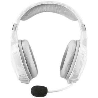 有線ゲーミングヘッドセット [φ3.5mmミニプラグ] GXT 322W Gaming Headset - white camouflage 20864