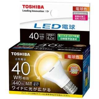 LED電球 (ミニクリプトン形[広配光タイプ]・全光束440lm/電球色相当・口金E17) LDA4L-G-E17/S/40W