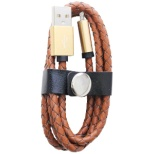 [micro USB]USBケーブル 充電・転送 (1m・ラティス/ブラウン)IQ-F-M-RA-BR [1.0m]