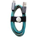 [micro USB]USBケーブル 充電・転送 (1m・レザー/グリーン)IQ-F-M-LE-GR [1.0m]