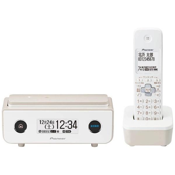 パイオニア デジタルコードレス留守番電話機 子機1台 TF-FD35W-TY 電話機