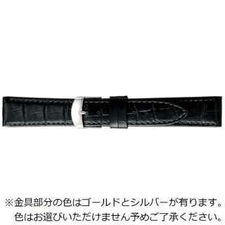 グレーシャス時計バンド BKM053A-S スコッチガード型押し(強力撥水)管幅20ミリ 美錠幅18ミリ ブラック