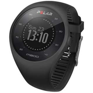 90061200 GPS内蔵スポーツウォッチ M200 ブラック 【正規品】