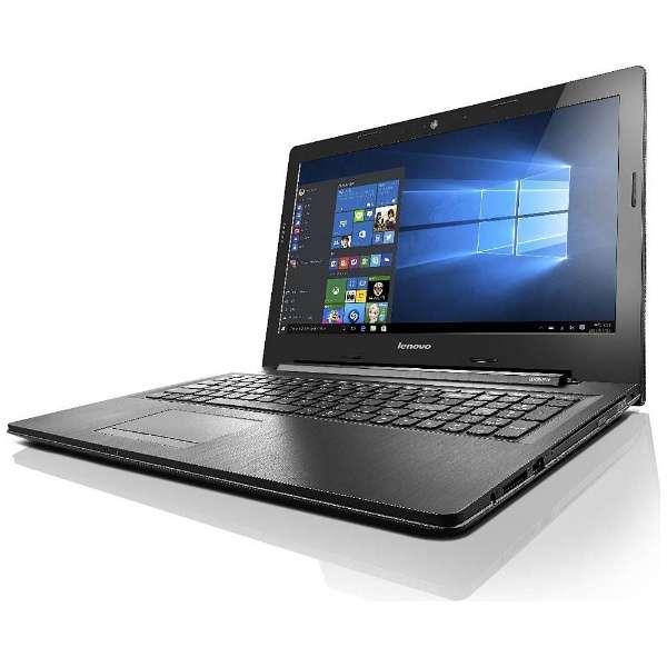 80E503GUJP ノートパソコン エボニー [15.6型 /intel Core i3 /HDD:500GB /メモリ:4GB /2016年10月モデル]