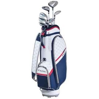 レディース ゴルフクラブ TOURSTAGE CL 8本セット《専用カーボンシャフト+ヘッドカバー・キャディバッグ(ネイビー)付》