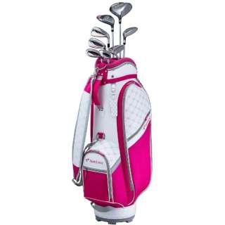 レディース ゴルフクラブ TOURSTAGE CL 8本セット《専用カーボンシャフト+ヘッドカバー・キャディバッグ(ピンク)付》