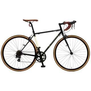 700×25C型 ロードバイク CANOVER ORPHEUS(ブラック/490サイズ《適応身長:160cm以上》) CAR-013 【組立商品につき返品不可】