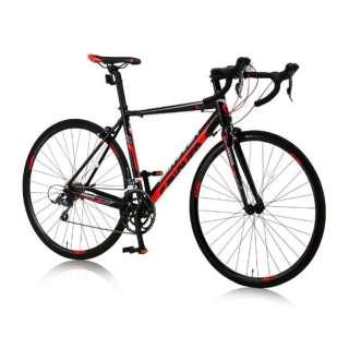 700×23C型 ロードバイク CANOVER ZENOS(レッド×ブラック/490サイズ《適応身長:165cm以上》) CAR-011 【組立商品につき返品不可】