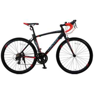 700×23C型 ロードバイク CANOVER ADONIS(ブラック/465サイズ《適応身長:165cm以上》) CAR-012 【組立商品につき返品不可】