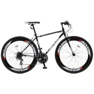 700×28C型 クロスバイク CANOVER NYMPH(ブラック/450サイズ《適応身長:155cm以上》) CAC-025 【組立商品につき返品不可】