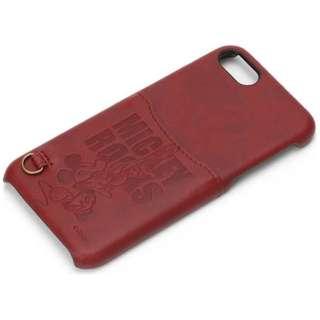 iPhone 7用 ディズニー ハードケース ポケット付き レッド / ミッキーマウス PG-DCS167MKY