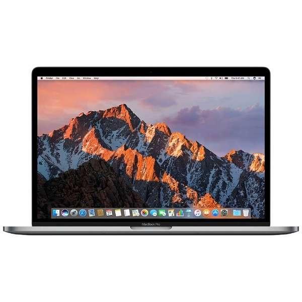 MacBookPro 15インチ Touch Bar搭載モデル[2016年/SSD 512GB/メモリ 16GB/2.7GHzクアッドコア Core i7]スペースグレイ MLH42J/A
