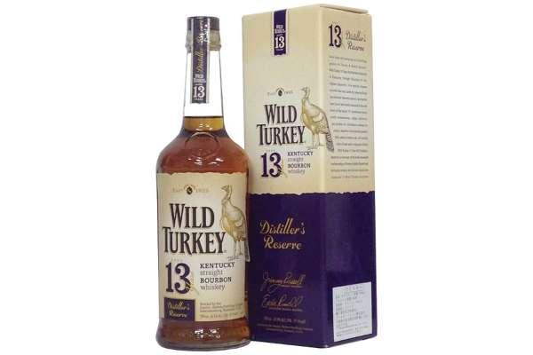 バーボンのおすすめ24選 「ワイルドターキー 13年」(度数:45.4度)