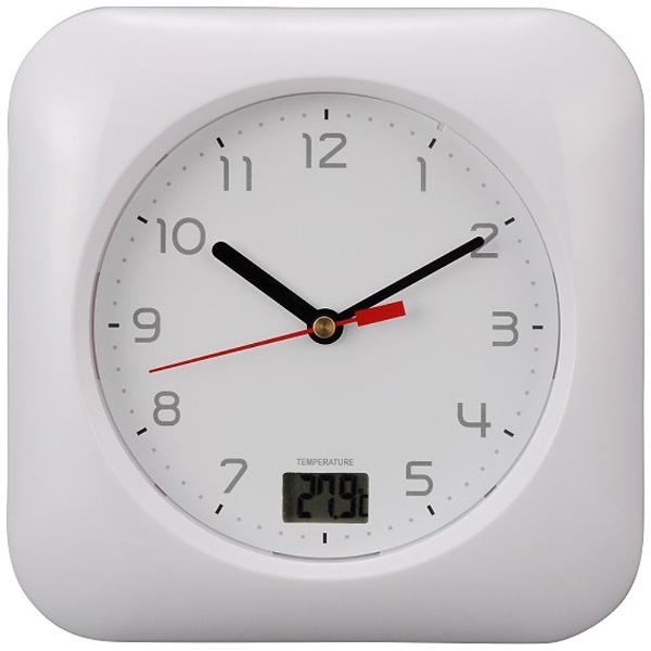 オーム電機 オーム (OHM) お風呂用クロック&温度計 HB-T10_HB-T10-W 08-0046