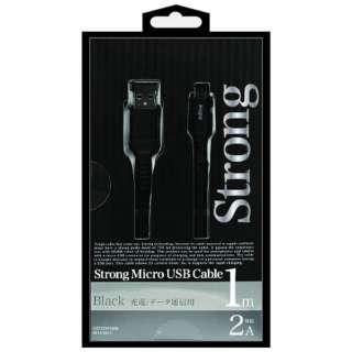 [micro USB]USBケーブル 充電・転送 2A (1m・ブラック)IUD-STSP100K [1.0m]