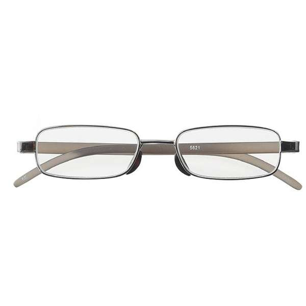 老眼鏡 ライブラリーコンパクト 5621(ライトガンメタル/+2.50)