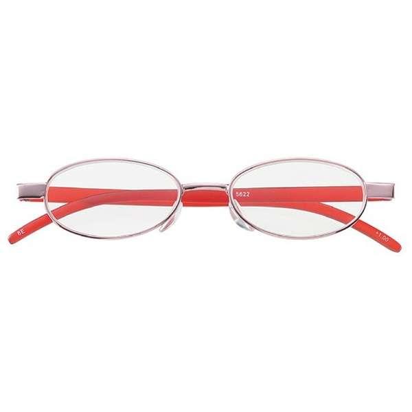 老眼鏡 ライブラリーコンパクト 5622(ピンク/+1.00) 5622-10