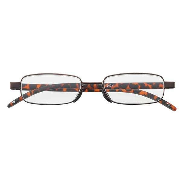 老眼鏡 ライブラリーコンパクト 5623(ブラウン/+2.50)