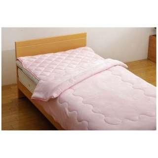 フランアイズ毛布&敷パッドセット(ダブルサイズ/毛布180×200cm、敷パッド140×205cm/ピンク)