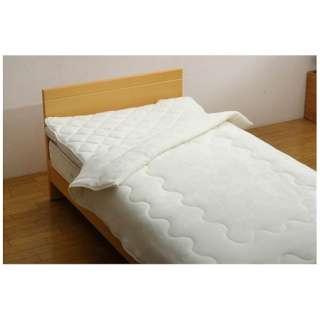 フランアイズ毛布&敷パッドセット(ダブルサイズ/毛布180×200cm、敷パッド140×205cm/アイボリー)