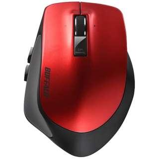 BSMBB500LRD マウス BSMBB500Lシリーズ レッド [BlueLED /5ボタン /Bluetooth /無線(ワイヤレス)]