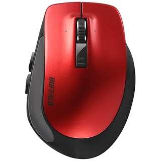 BSMBB500SRD マウス BSMBB500Sシリーズ レッド [BlueLED /5ボタン /Bluetooth /無線(ワイヤレス)]