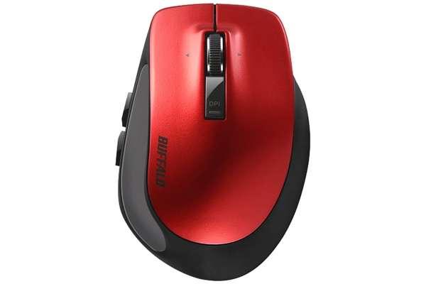 マウスのおすすめモデル21選 バッファロー BSMBB500SRD(ブルーLED/5ボタン)